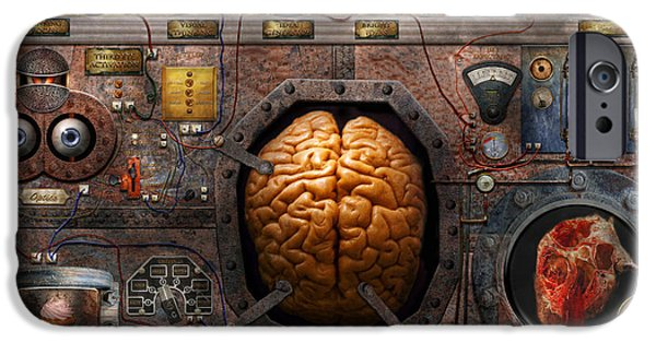 Strange iPhone Cases - Steampunk - Information overload iPhone Case by Mike Savad