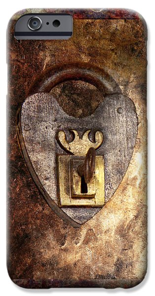 Steampunk - Locksmith - The key to my heart iPhone Case by Mike Savad