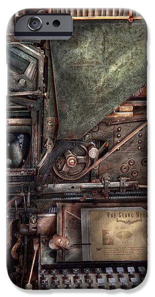 Steampunk - Machine - All the bells and whistles  iPhone Case by Mike Savad
