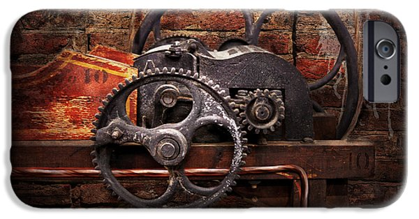 Suburban Digital Art iPhone Cases - Steampunk - No 10 iPhone Case by Mike Savad