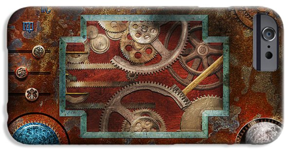 Mechanism iPhone Cases - Steampunk - Pandoras box iPhone Case by Mike Savad