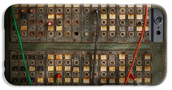 Electronic iPhone Cases - Steampunk - Phones - The old switch board iPhone Case by Mike Savad