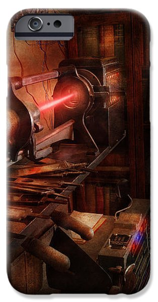 Steampunk - Photonic Experimentation iPhone Case by Mike Savad
