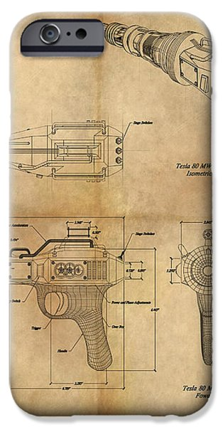 Steampunk Raygun iPhone Case by James Christopher Hill