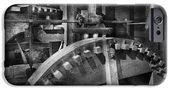 Grist Mill iPhone Cases - Steampunk - Runs like clockwork iPhone Case by Mike Savad