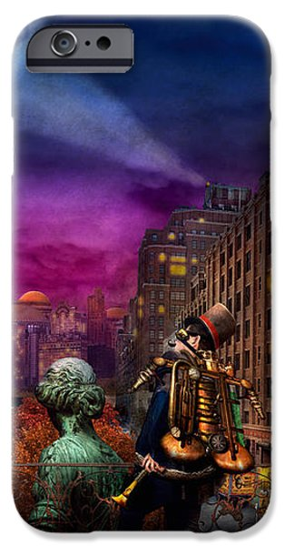 Steampunk - The Great Mustachio iPhone Case by Mike Savad