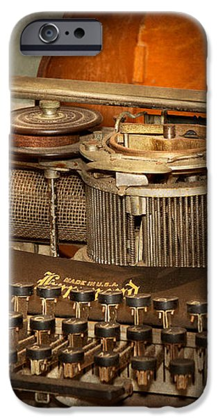 Steampunk - The history of typing iPhone Case by Mike Savad
