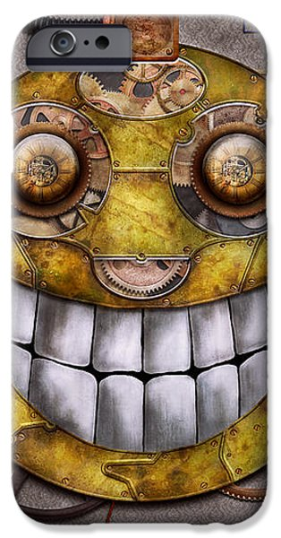 Steampunk - The joy of technology iPhone Case by Mike Savad