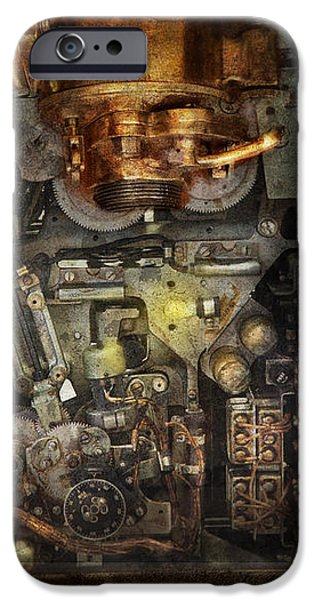 Steampunk - The Turret Computer  iPhone Case by Mike Savad