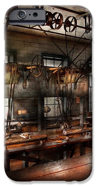 Steampunk - The Workshop iPhone Case by Mike Savad