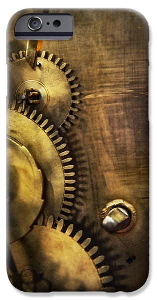 Steampunk - Toothy  iPhone Case by Mike Savad