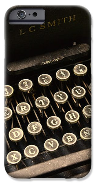 Steampunk - Typewriter - The Age of Industry iPhone Case by Paul Ward