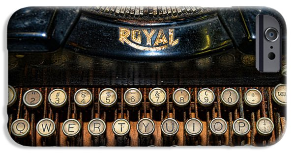 Typewriter Keys Photographs iPhone Cases - Steampunk - Typewriter -The Royal iPhone Case by Paul Ward