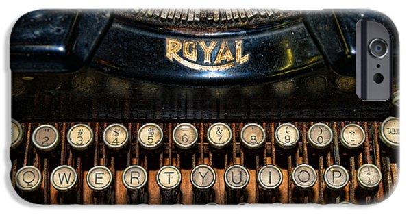 Typewriter Keys iPhone Cases - Steampunk - Typewriter -The Royal iPhone Case by Paul Ward