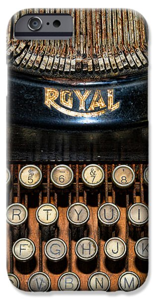 Steampunk - Typewriter -The Royal iPhone Case by Paul Ward