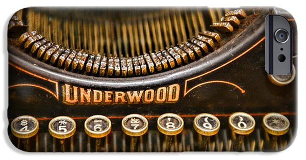 Typewriter Keys Photographs iPhone Cases - Steampunk - Typewriter - Underwood iPhone Case by Paul Ward