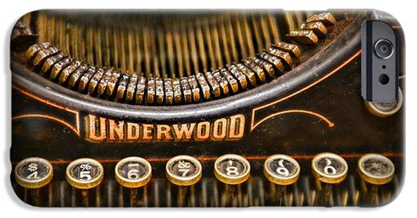 Typewriter Keys iPhone Cases - Steampunk - Typewriter - Underwood iPhone Case by Paul Ward