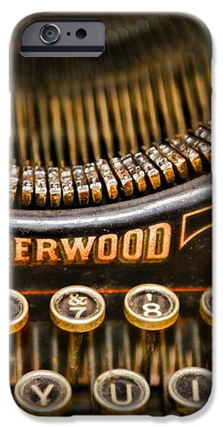 Steampunk - Typewriter - Underwood iPhone Case by Paul Ward