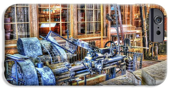Work Tool iPhone Cases - Steampunk Woodshop HDR iPhone Case by John Straton