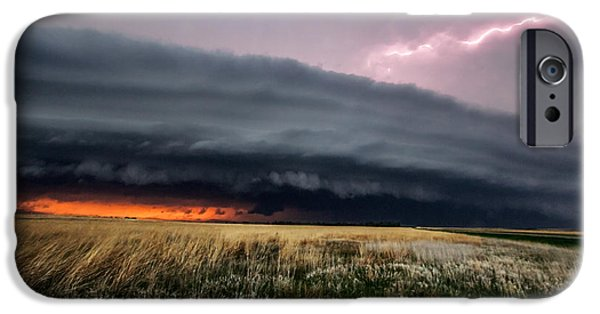 Lightning Photographer iPhone Cases - Steamroller iPhone Case by Sean Ramsey