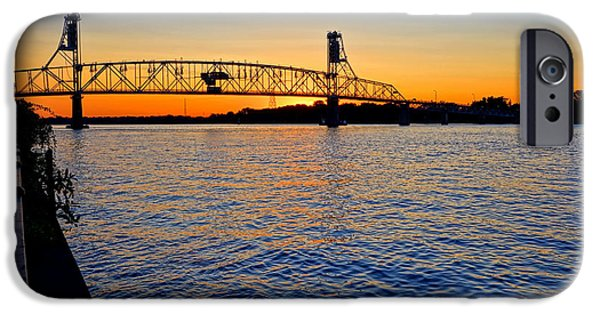 Unset iPhone Cases - Steel Bridge Silk Water iPhone Case by Olivier Le Queinec