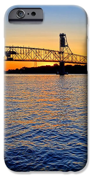 Steel Bridge Silk Water iPhone Case by Olivier Le Queinec