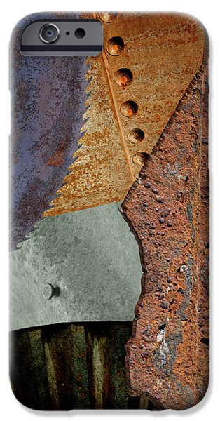 Steel Collage iPhone Case by Fran Riley