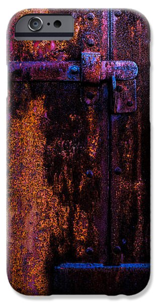 Chip iPhone Cases - Steel Door Number Two iPhone Case by Bob Orsillo