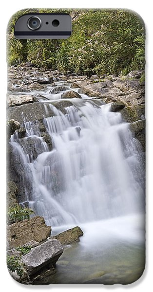 Nature Scene iPhone Cases - Steele Creek Park - Bristol - Waterfall iPhone Case by Brendan Reals