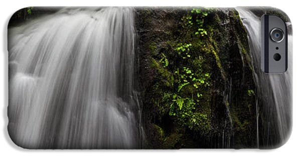 Berry iPhone Cases - Steelhead Falls Panorama iPhone Case by Michael Russell