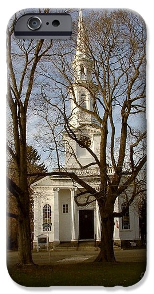 Concord Ma. iPhone Cases - Steeple in the Trees iPhone Case by Donna Cavanaugh