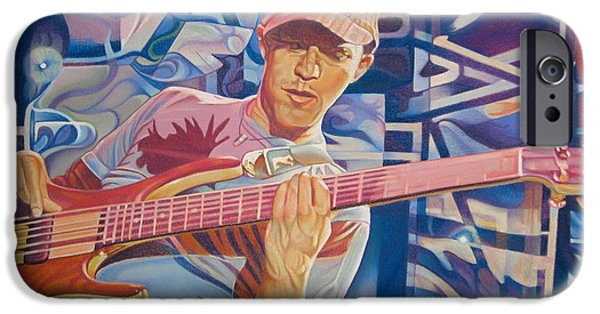 Player Drawings iPhone Cases - Stefan Lessard and 2006 Lights iPhone Case by Joshua Morton