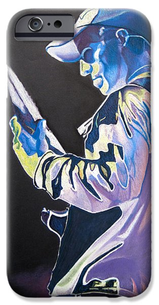 The Dave Matthews Band iPhone Cases - Stefan Lessard Colorful Full Band Series iPhone Case by Joshua Morton