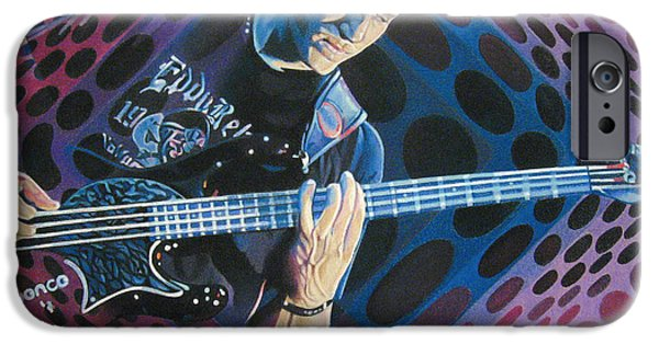 Player Drawings iPhone Cases - Stefan Lessard Pop-Op Series iPhone Case by Joshua Morton