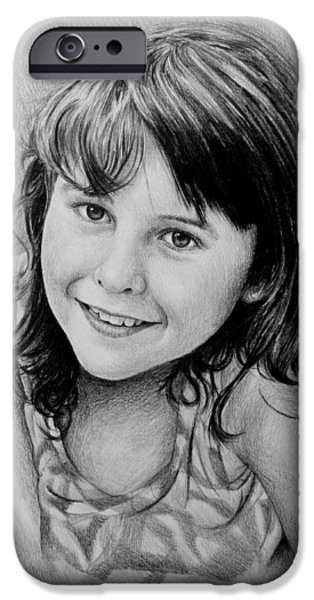 Little Girl iPhone Cases - Stefanie iPhone Case by Andrew Read