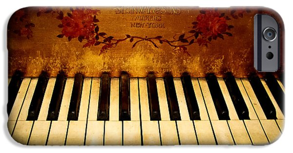 Original Photography iPhone Cases - Steinway Golden Grand  iPhone Case by Colleen Kammerer
