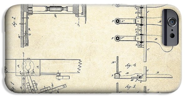 Piano iPhone Cases - 1885 Steinway Piano Pedal Patent Art iPhone Case by Gary Bodnar