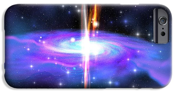 Gamma Ray Burst iPhone Cases - Stellar Black Hole iPhone Case by Corey Ford