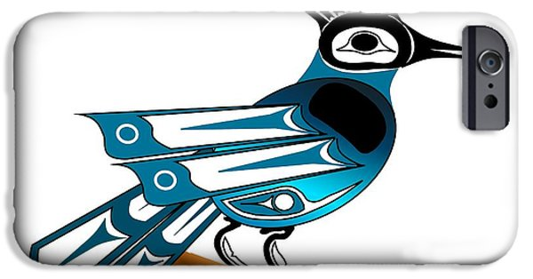 Stellar Drawings iPhone Cases - Stellar Jay iPhone Case by Fred Croydon