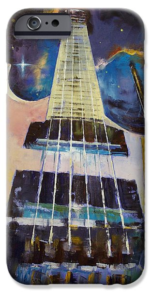 Eighties iPhone Cases - Stellar Rift iPhone Case by Michael Creese