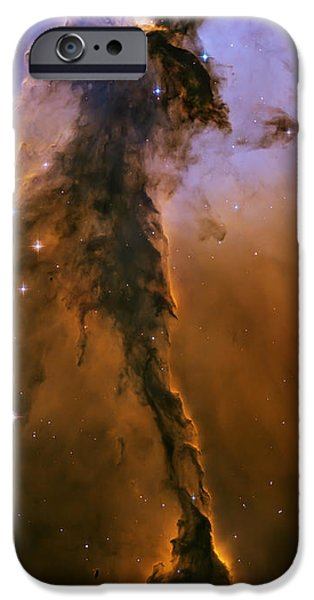 Stellar spire in the Eagle Nebula iPhone Case by Adam Romanowicz