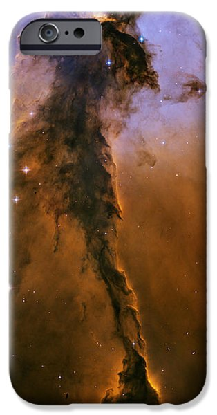 Hubble Telescope Images iPhone Cases - Stellar Spire in the Eagle Nebula iPhone Case by Eric Glaser