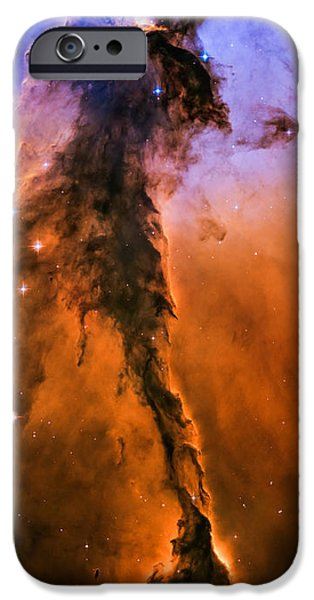 Stellar iPhone Cases - Stellar Spire in the Eagle Nebula iPhone Case by Marco Oliveira