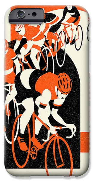 Contemporary Art Drawings iPhone Cases - Stelvio iPhone Case by Eliza Southwood