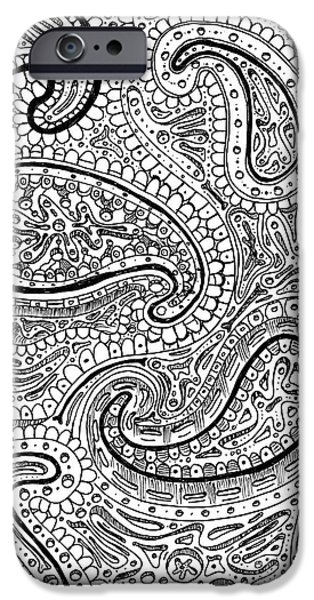 Biological Drawings iPhone Cases - Stem cells iPhone Case by Shawn Hempel