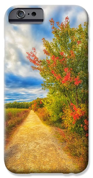 Concord Massachusetts iPhone Cases - Step back into Fall iPhone Case by Sylvia J Zarco