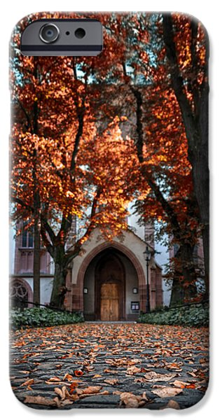 Pathway iPhone Cases - Autumn in Basel iPhone Case by Carol Japp