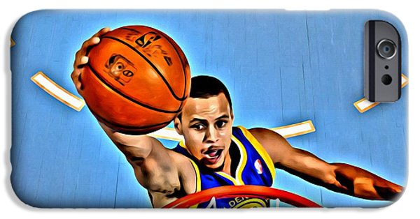 Slam Photographs iPhone Cases - Steph Curry iPhone Case by Florian Rodarte