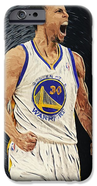 All Star iPhone Cases - Stephen Curry iPhone Case by Taylan Soyturk