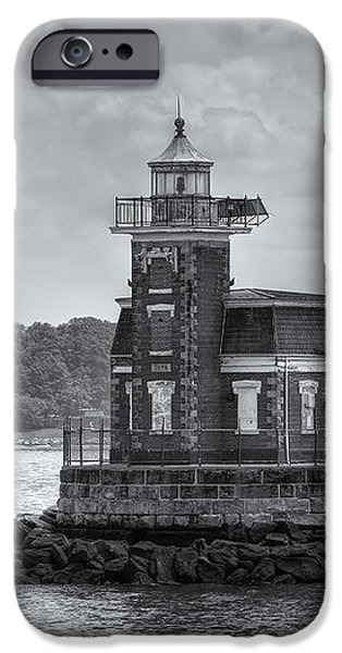 Stepping Stones Lighthouse II iPhone Case by Clarence Holmes